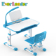 Everleader kids study table Child reading table customized writing pencil drawer plastic kids table and chair set