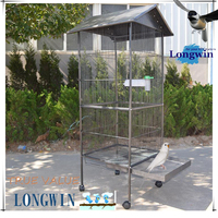 Personalized Iron And Plastic Bird Cage Large