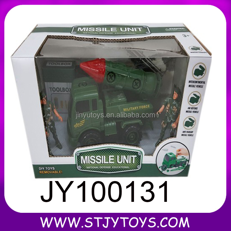 Child kid anti warship missile toy car boy plastic friction vehicle with soilders