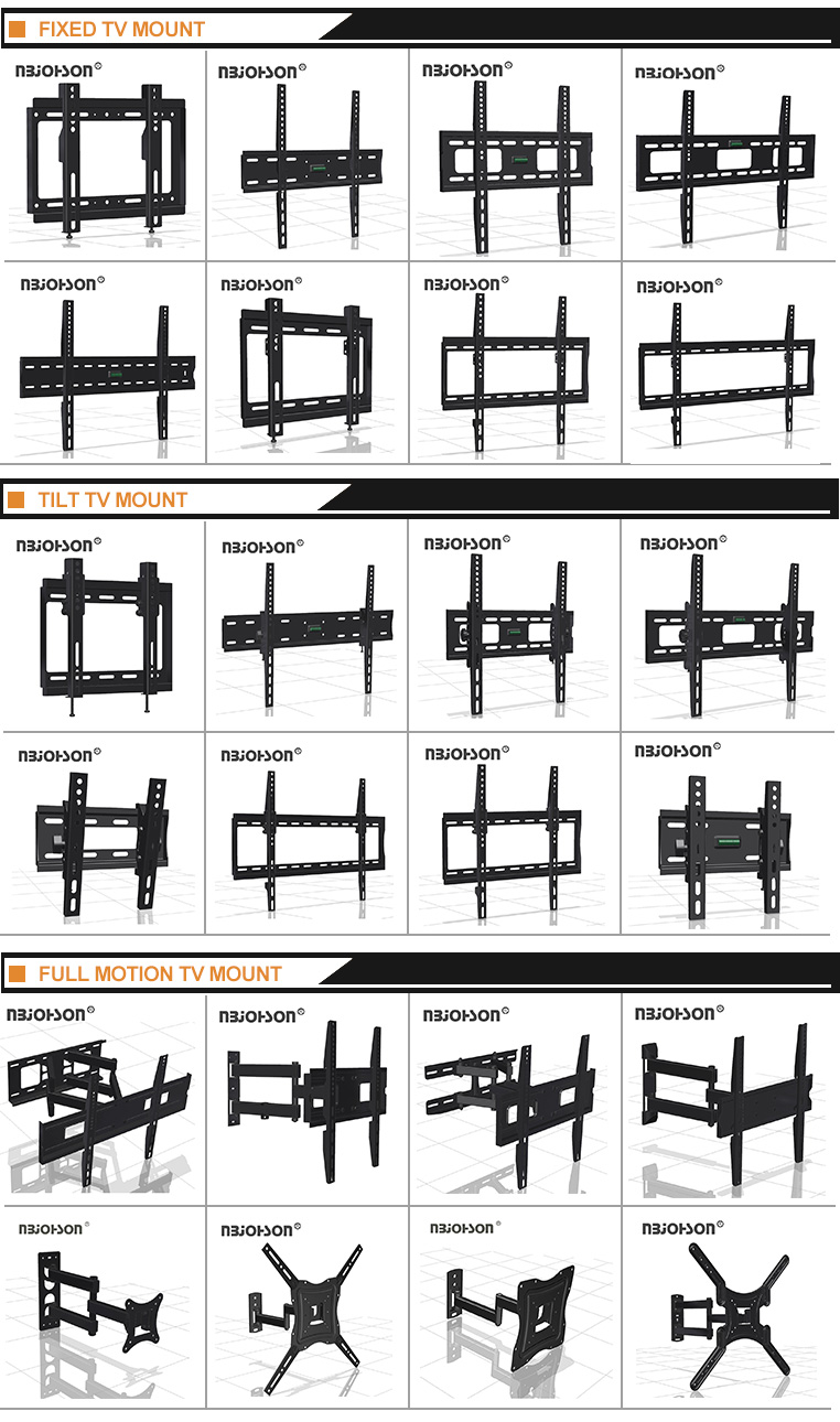 High Quality LED LCD Fixed Sliding VESA 600*400 TV Wall Mount Bracket With Locking System