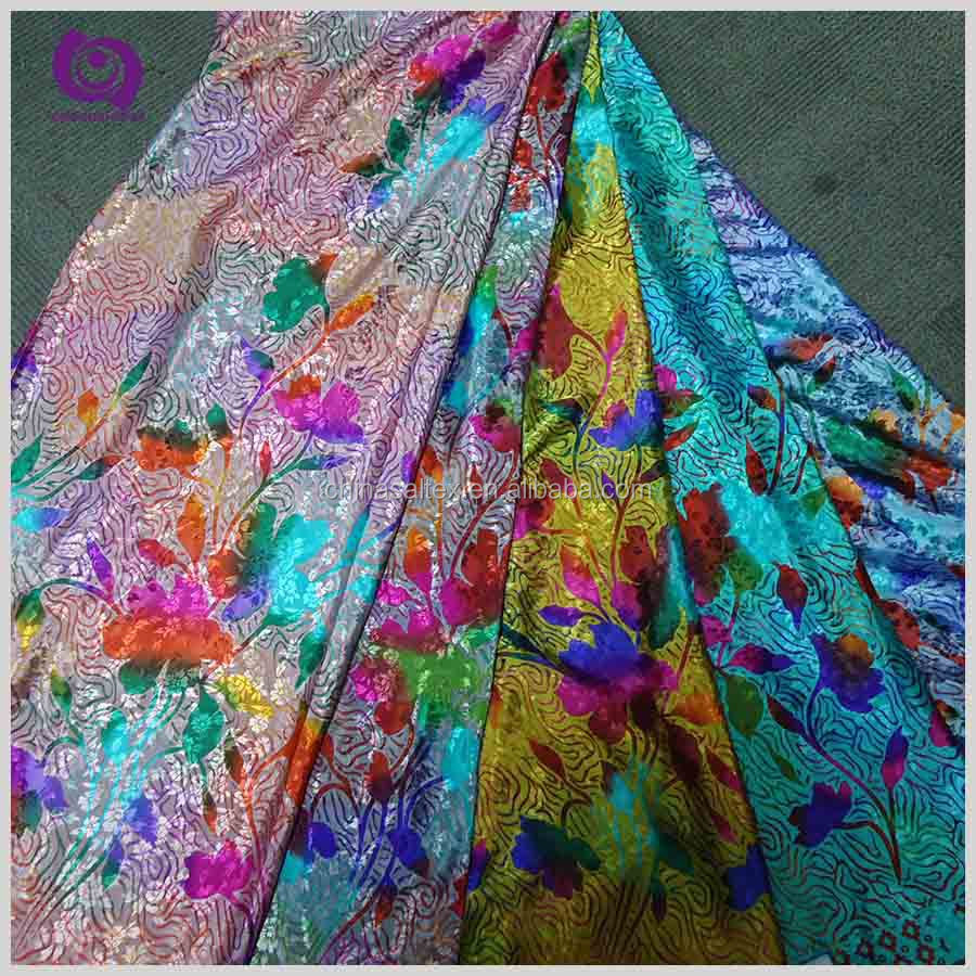 Hot Sale Silk Fabric For Dress Silk Chiffon Floral Printed
