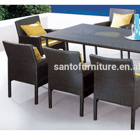New Wicker Outdoor Furniture Set Dining Chairs And Tables Garden Patio Setting