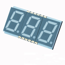Smd 7 segmenti led display 0.56 pollici 3 cifre 7 segmenti led smd display rosso/<span class=keywords><strong>verde</strong></span>/blu/ bianco