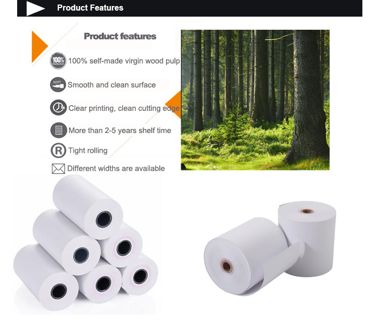 Thermal Printer Roll Paper 80mm*80mm Bank ATM Paper for POS Machine