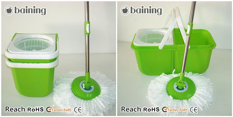 Household mop housekeeping equipment cleaning trolley double bucket (6).jpg