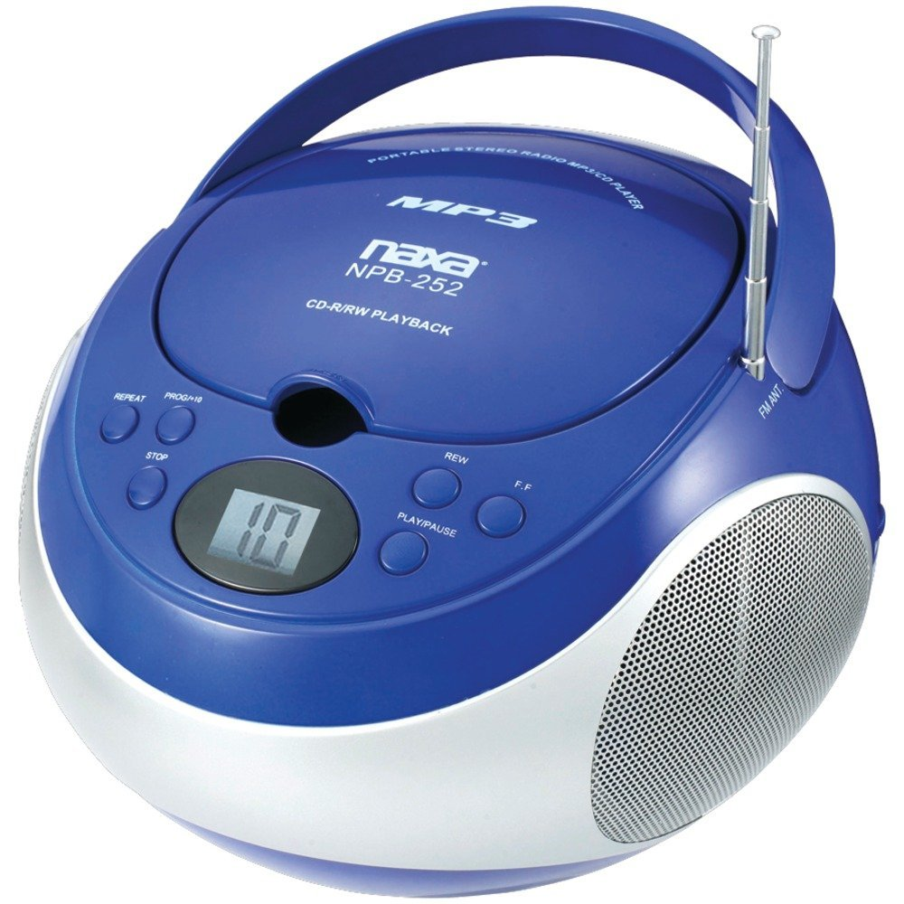NAXNPB252BL - NAXA NPB252BL Portable CD MP3 Player with AM FM Stereo (Blue)