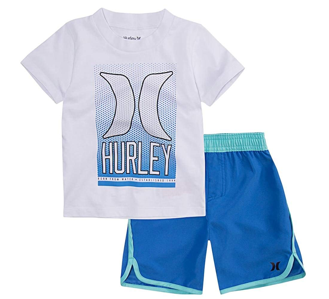 8a6a97f8d1 Get Quotations · Hurley Toddler Boys Ombre Dot Graphic Tee & Shorts Set
