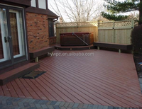 Eco Friendly Walkway Wood Plastic Composite flooring