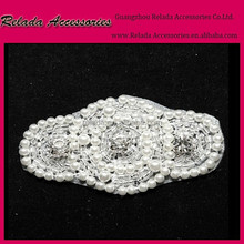 Pearl Wedding Applique Beaded Bridal Applique for shoe clips