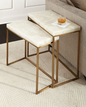 Taylor brass nesting tables a set of two sofa table side table taylor brass nesting tables a set of two sofa table side table living room furniture watchthetrailerfo