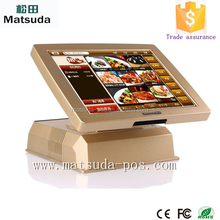 Customized VFD customer display touch screen pos terminal for resteraut