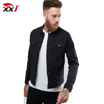 1d71e7f112 new style mens jean jacket skinny denim jackets coats winter in black