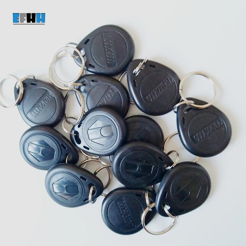 10x RFID Gelb Transponder Schlüsselanhänger Key 125Khz EM4100 Kellnerschlüssel