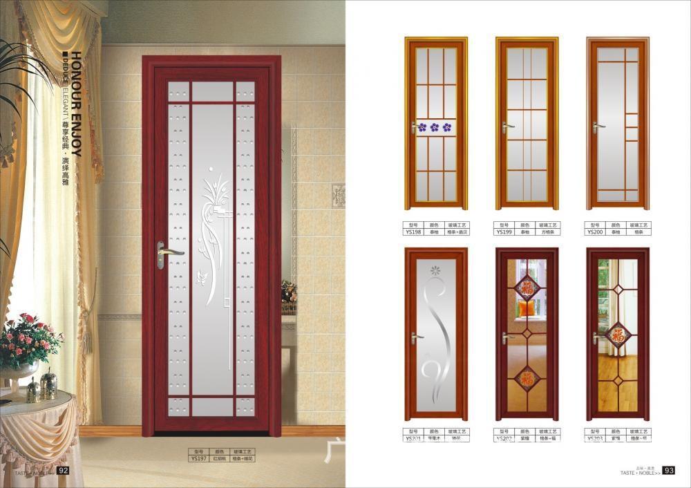 Aluminio vidrio esmerilado puerta para ba o buy puerta - Puertas para el bano ...