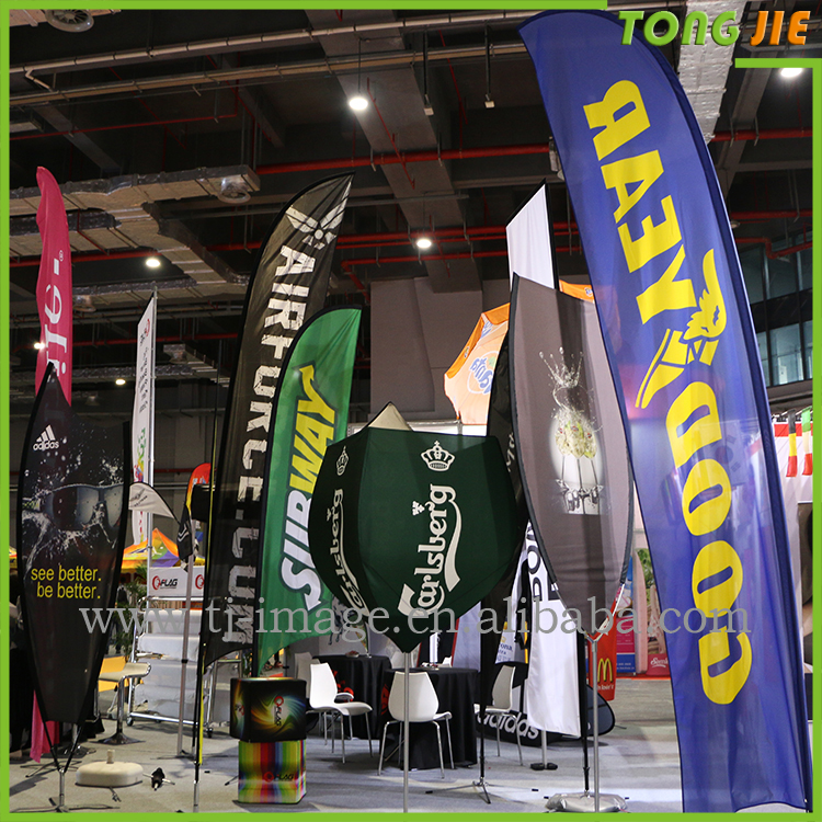 Outdoor advertising Use Fabric/Polyester Teardrop/Knife/Feather Flags