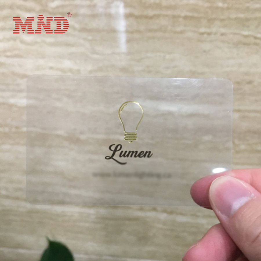 MDC726 Plastic mirror business cards with both side printed