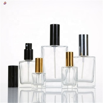 Square shape glass woman/men perfume bottle 5ml 10ml 30ml 50ml 100ml