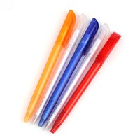 Cheap printed logo promotion good quality slim plastic ball pen