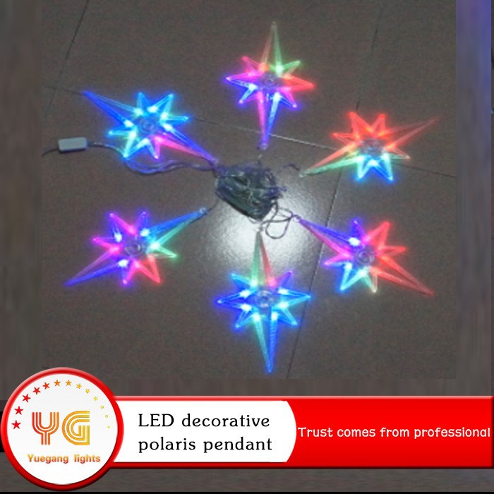 Quality Curtain light Led Cristmas Lights North Star LED Night Light Used for Flash Creative Christmas Gifts