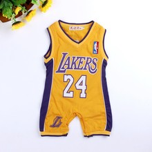 baby clothes summer jumpsuit Laker Baby Boys Rompers Basketball sports romper