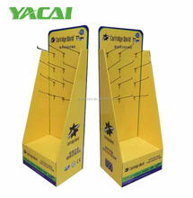F1889K Yacai factory POP cardboard retail hook display stand price