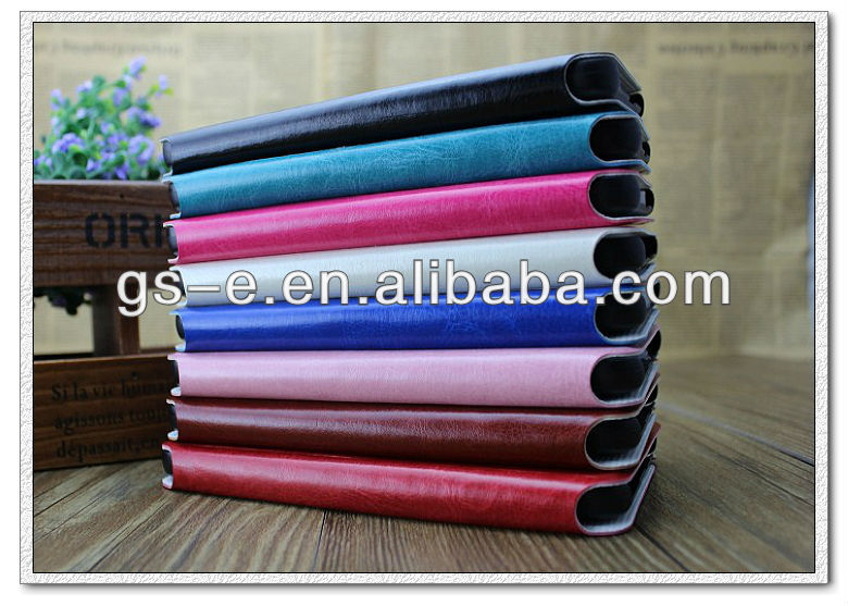 There section foldable stand pu wallet leather case for ipad air ipad 5 ipad mini
