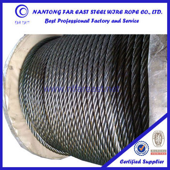To Japan Wire Rope,6*36sw+iwrc Ungalvanized And Galvanized Steel ...