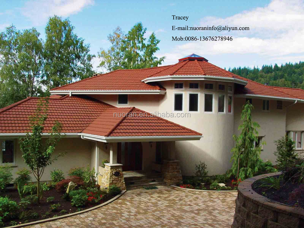 colorful stone coated metal villa roofing roof sheet metal prices