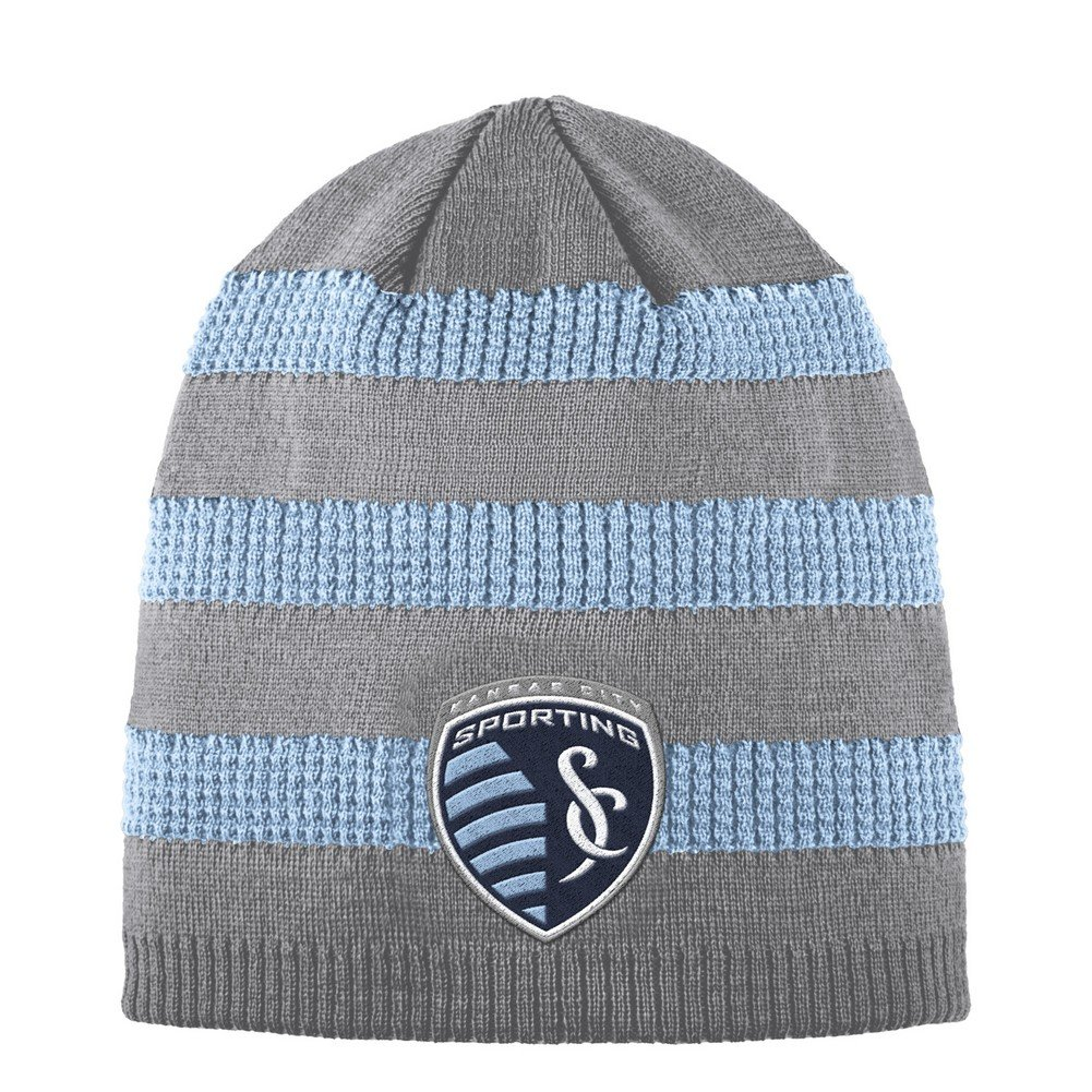 adidas Sporting Kansas City Beanie Authentic Textured Knit Cap