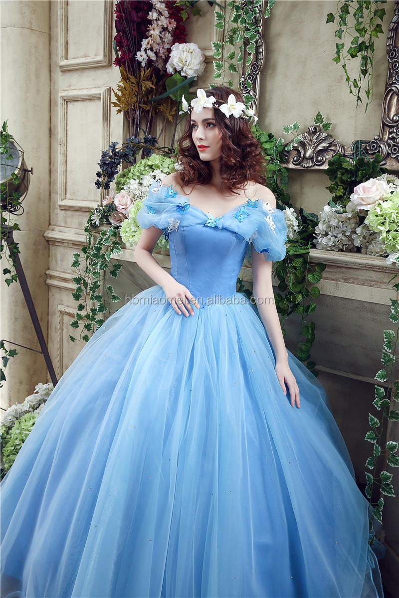 Cinderella dress organza ball gown wedding dresses 2017 sleeveless cinderella dress organza ball gown wedding dresses 2017 sleeveless puffy dress robe de mariage blue wedding ombrellifo Image collections