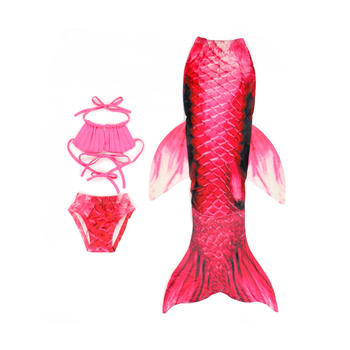 78c1245b36bd1 New Mermaid Tail Bikini Set Swimwear Costume Children Bikinis Set 3 pcs  kids little girls mermaid