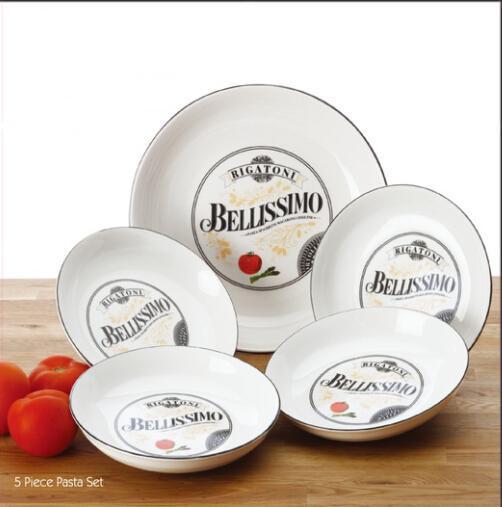 hot sales high quality 5pc Italian pasta bowl set in gift box/pasta set & Hot Sales High Quality 5pc Italian Pasta Bowl Set In Gift Box/pasta ...