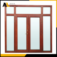 Aluminum Clad Wood Double Doors with Transom and Sidelights