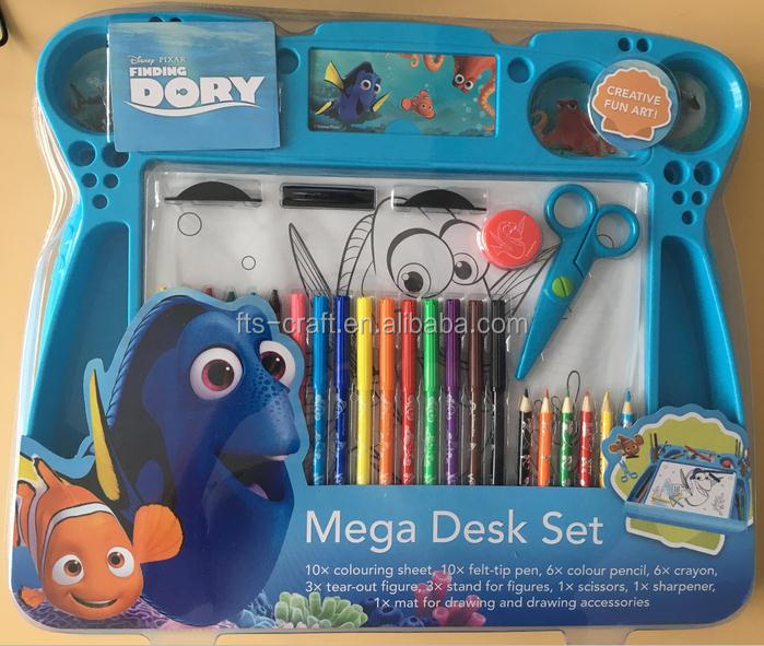 Activity Desk Set voor kinderen Craft and Mega Desk Set Disney Briefpapier Set