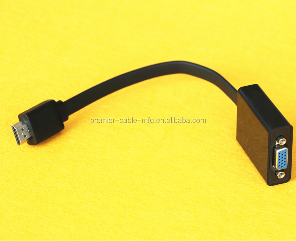 VGA/SVGA D-Sub Female Monitor/AV & Adapters with Flat Cable