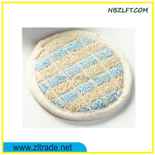 NATURAL BATH SPONGE / BODY SHOWER SCRUBBER PAD IN ROUND SHPAE