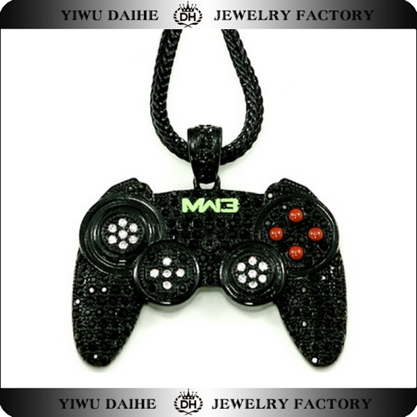 Daihe long chain game controller/USB GAME PAD pendant necklace 2016 hip hop jewelry