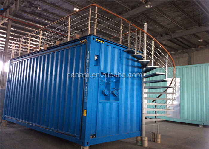 Customized shipping container house with stair and upgrade platform use for exhibition