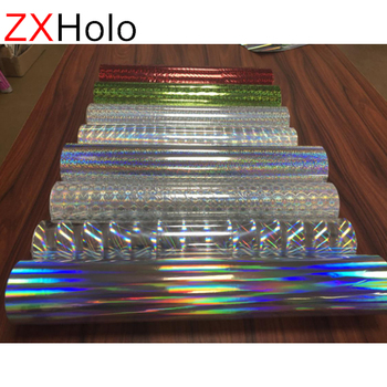 Various size holographic laser film thermal lamination