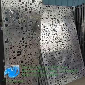 Architectural aluminum perforated cladding with art patterns perforation used for building facade
