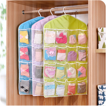 16 pocket over the door organizer fabric wall hanging storage pocket underwear organizer bag & 16 Pocket Over The Door Organizer Fabric Wall Hanging Storage Pocket ...
