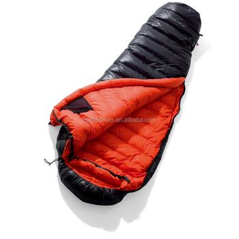 Luxury White Duck Feather Sleeping Bag For Winter Camping