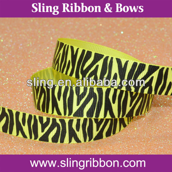 22mm Black Zebra Printed Ribbon