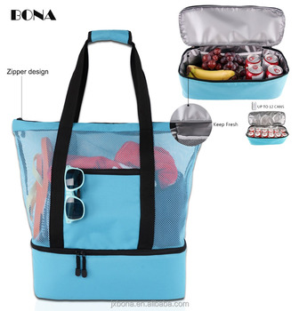 339e534d861a Mesh Beach Bag With Cooler Insulated Picnic Waterproof Zipper Tote Bags For  Beach Travel - Buy Beach Tote Ice Cooler Bag,Beach Tote Bag With Insulated  ...