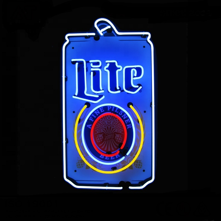 Cheap Beer Neon Signs Miller Lite Can Neon Beer Cafe Sign