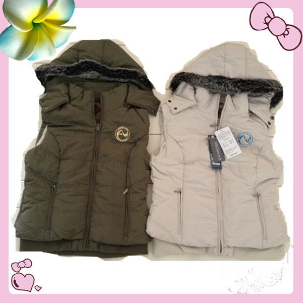 Lady 100%Polyester Padded Vest Garment stocklots