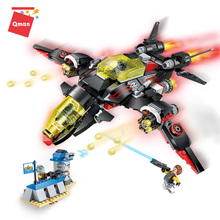 Qman Educational Toys Enlighten Early Learning Fit Aircraft Variety Small Flash Bomber Building Blocks compatible legoingly