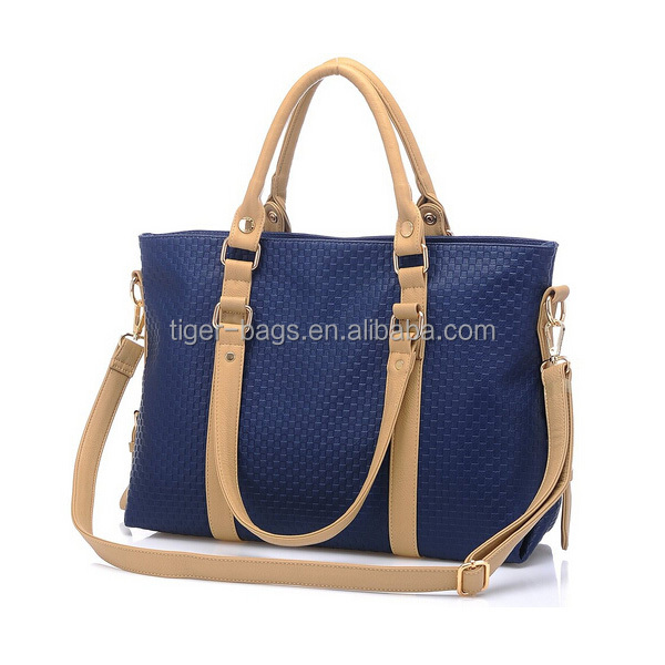 6cb2c82df201 2016 European style dark blue PU authentic designer handbag wholesale
