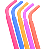New 2019 trending product colorful reusable FDA baby feeding silicone straw