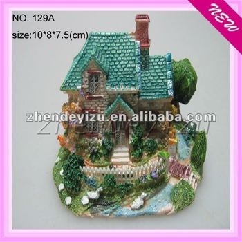 Mini Aquarium Resin Decoration Ornaments Samll Villa House Garden ...